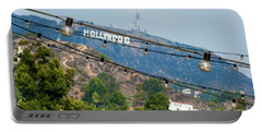 Portable Battery Charger featuring the photograph Hollywood Sign On The Hill 1 by Micah May