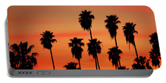 Hollywood Sunset Portable Battery Charger by Mariola Bitner