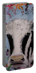 Holstein Cow Painting Farm House Wall Art Cow Art Portable Battery Charger
