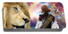 Portable Battery Charger featuring the digital art Holy Calling by Dolores Develde