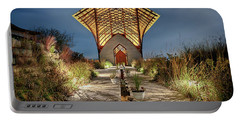Portable Battery Charger featuring the photograph Holy Family Shrine by Susan Rissi Tregoning