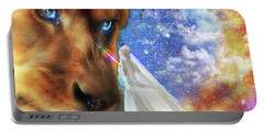 Divine Perspective Portable Battery Charger by Dolores Develde