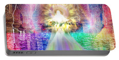 Portable Battery Charger featuring the digital art Holy Holy Holy by Dolores Develde