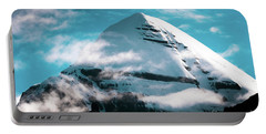 Portable Battery Charger featuring the photograph Holy Kailas Himalayas Mountain Tibet Yantra.lv by Raimond Klavins