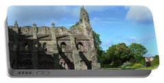 Holyrood Abbey Ruins In Edinburgh Scotland Portable Battery Charger