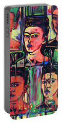 Homage To Frida Kahlo Portable Battery Charger
