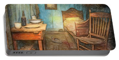 Homage To Van Gogh's Room Portable Battery Charger