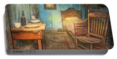Homage To Van Gogh's Room Portable Battery Charger by Craig J Satterlee
