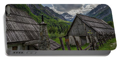 Portable Battery Charger featuring the photograph Home In The Slovenian Alps #2 by Stuart Litoff