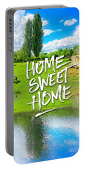 Home Sweet Home Pastoral Versailles Chateau Country Landscape Portable Battery Charger