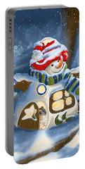 Portable Battery Charger featuring the painting Home Sweet Home by Veronica Minozzi