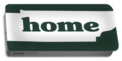 home TN on Green Portable Battery Charger by Heather Applegate