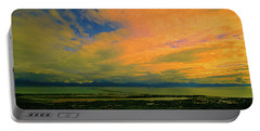 Portable Battery Charger featuring the photograph Homer Alaska Sunset by Norman Hall