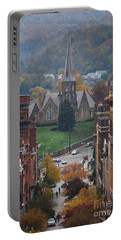 Portable Battery Charger featuring the photograph My Hometown Cumberland, Maryland by Eric Liller