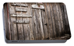 Portable Battery Charger featuring the photograph Hondo's Bar At Luckenbach Texas by Andy Crawford