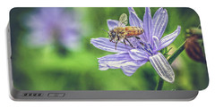 Honey Bee And Flower Portable Battery Charger
