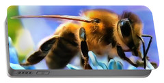 Honey Bee In Interior Design Thick Paint Portable Battery Charger
