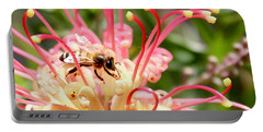 Honey Bee On Grevillea  Portable Battery Charger