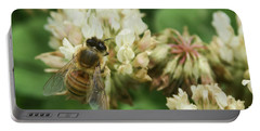 Portable Battery Charger featuring the photograph Honey Bee by Pamela Walton