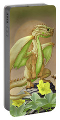 Portable Battery Charger featuring the digital art Honey Dew Dragon by Stanley Morrison