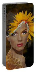 Portable Battery Charger featuring the digital art Honey by Nola Lee Kelsey