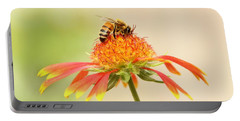 Honeybee And Blanket Flower  Portable Battery Charger