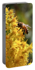 Honeybee On Showy Goldenrod Portable Battery Charger
