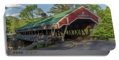 Honeymoon Covered Bridge In Jackson New Hampshire Portable Battery Charger