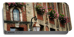 Honfleur Flower Boxes Portable Battery Charger by Joe Bonita