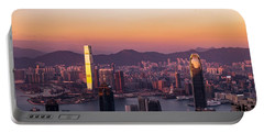 Hong Kong At Sunrise Stories From The Road Series 002 Portable Battery Charger
