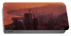 Portable Battery Charger featuring the photograph Hong Kong City View From Victoria Peak by Pradeep Raja Prints