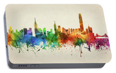 Hong Kong Skyline Chhk05 Portable Battery Charger by Aged Pixel