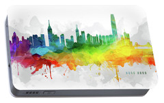 Hong Kong Skyline Mmr-chhk05 Portable Battery Charger by Aged Pixel