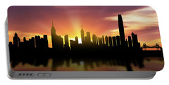 Hong Kong Skyline Sunset Chhk22 Portable Battery Charger