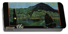 Hong Kong - The Riviera Of The Orient - Vintage Travel Poster Portable Battery Charger