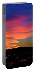Honolulu Sunset Portable Battery Charger by Lehua Pekelo-Stearns