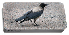 Portable Battery Charger featuring the photograph Hooded Crow by Jouko Lehto