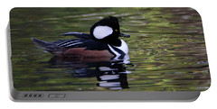 Hooded Merganser Duck Portable Battery Charger by Keith Boone