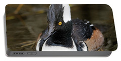 Hooded Merganser Hanging Out Portable Battery Charger
