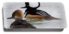 Hooded Mergansers Portable Battery Charger