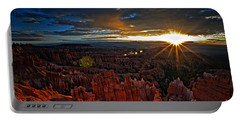 Hoodoos At Sunrise Bryce Canyon National Park Portable Battery Charger by Sam Antonio