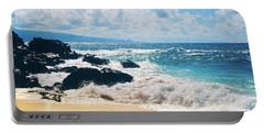 Portable Battery Charger featuring the photograph Hookipa Beach Maui Hawaii by Sharon Mau
