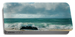 Portable Battery Charger featuring the photograph Hookipa Beach Pacific Ocean Waves Maui Hawaii by Sharon Mau