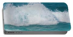 Portable Battery Charger featuring the photograph Hookipa Splash Waves Beach Break Shore Break Pacific Ocean Maui  by Sharon Mau