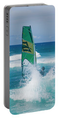 Portable Battery Charger featuring the photograph Hookipa Windsurfing North Shore Maui Hawaii by Sharon Mau