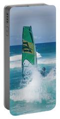 Hookipa Windsurfing North Shore Maui Hawaii Portable Battery Charger by Sharon Mau