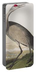 Hooping Crane Portable Battery Charger by John James Audubon