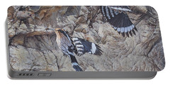 Hoopoes Feeding Portable Battery Charger