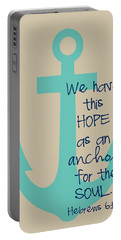 Hope Is An Anchor Portable Battery Charger