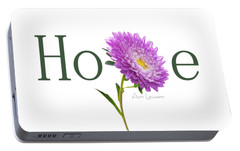 Portable Battery Charger featuring the digital art Hope Shirt by Ann Lauwers